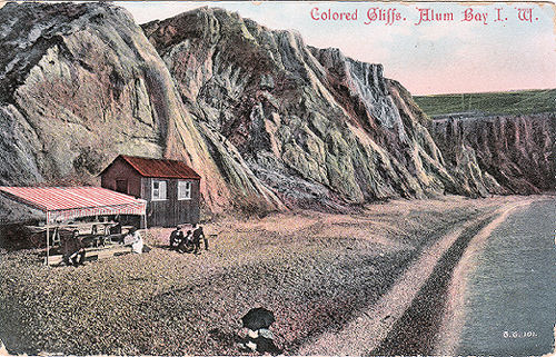 Alum Bay coured cliffs