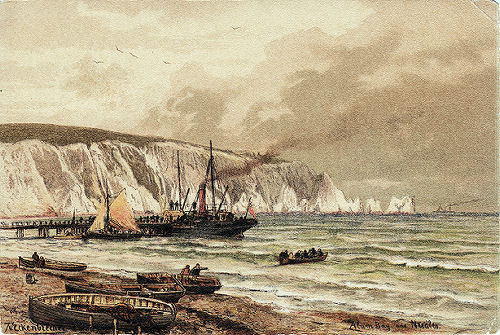 Alum Bay pier around 1910